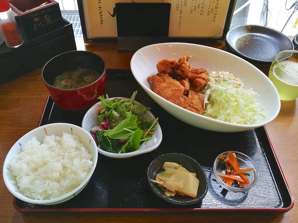 鶏の唐揚げ定食 タルタル
